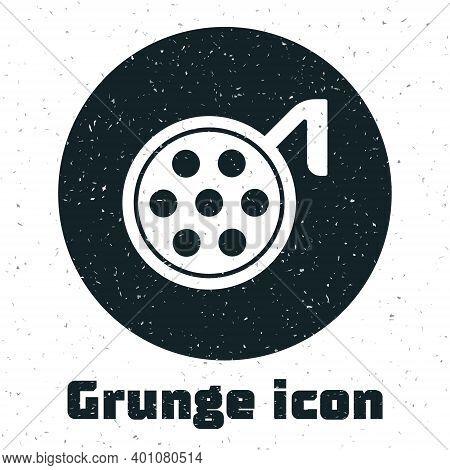Grunge Surgery Lamp Icon Isolated On White Background. Monochrome Vintage Drawing. Vector Illustrati