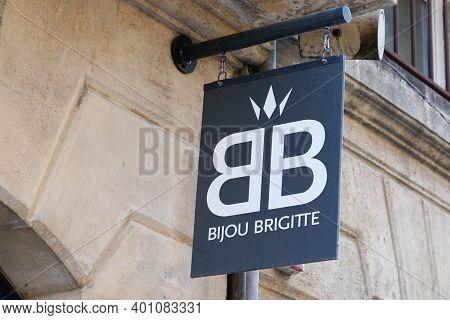 Bordeaux , Aquitaine  France - 12 25 2020 : Bijou Brigitte Text Logo And Brand Sign Of Store Fashion