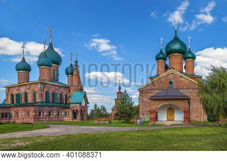 View Of Temple Ensemble In Korovniki, Yaroslavl, Russia