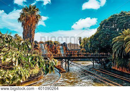 Port-aventura, Spain - Sept, 06:amusement Park In Spain Near Salou- Port Aventura. One Of The Bigges