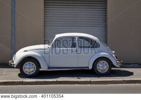 Bayeux, France - August 06 2020: The Volkswagen Beetle Was Manufactured And Marketed By German Autom