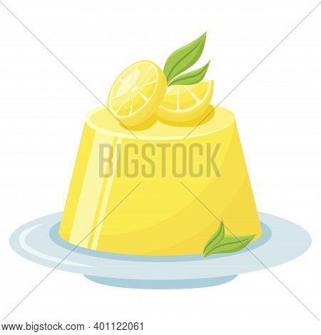 Lemon Pudding, Natural Citrus Delicious Decorated Snack