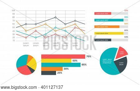 Infographics Marketing Statistic. Modern Presentation Financial Diagram, Analysis Charts, Structure