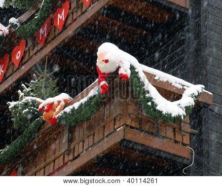 Snow Covered Santa
