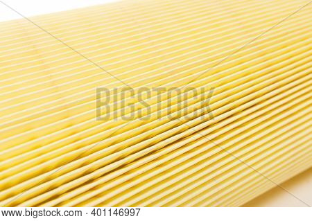 Car Air Filter Close-up, Paper Membrane For Air Purification, Depth Of Field Photography, Texture Of