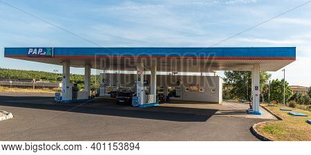 Central Bohemia, Czech Republic, 09-11-2020. Pap Oil Gas Station In Prague And In The Outskirts (boh
