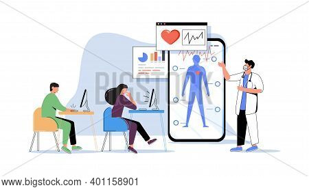 Online Medical Webinar And Medicine Courses: Doctor Teaching To Academic Students In The Virtual Cla