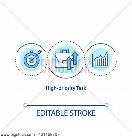 High Priority Task Concept Icon. Very Important Things And Must Be Done As Soon As Team Can. Working