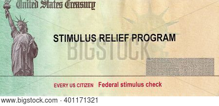 U.s. Federal Stimulus Package Coronavirus Covid-19 On Global Pandemic Lockdown Financial Relief Pack