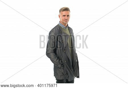 Fashion Model. Confident Businessman Wearing Casual. Confidence And Charisma. Good Looking Guy Isola