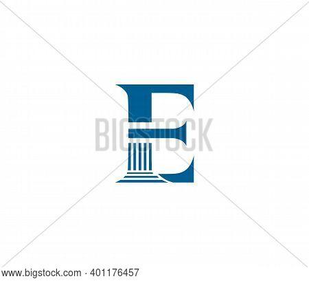 E Alphabet Law Firm Logo Design Concept