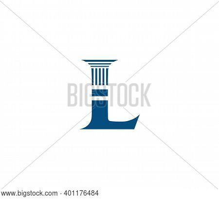 L Alphabet Law Firm Logo Design Concept