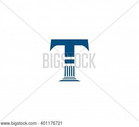 T Alphabet Law Firm Logo Design Concept