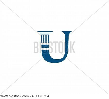 U Alphabet Law Firm Logo Design Concept