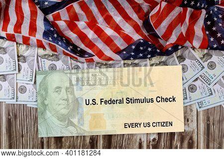 American Flag Global Pandemic Covid 19 Lockdown On Senate Stimulus Deal Includes Individual Checks V