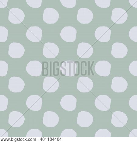 Simple Polka Dots Seamless Vector Pattern In Muted Colors. Surface Print Design For Fabrics, Station