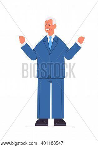 Happy Man American Democrat President United States Presidential Election Winner Usa Debate Voting 2