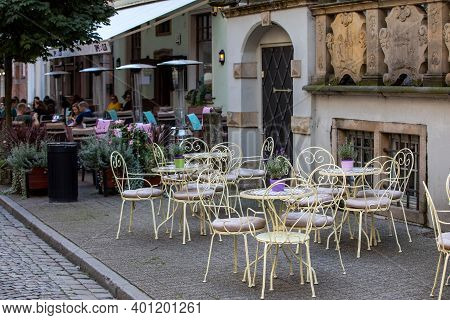 Gdansk, Poland - Sept 6, 2020: Beer Pubs And Cafes On Piwna Street In Gdansk