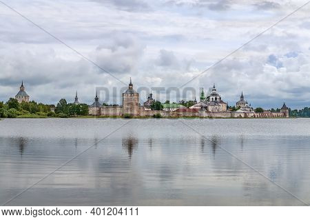 View Of Kirillo-belozersky Monastery From  Lake Siverskoye, Russia