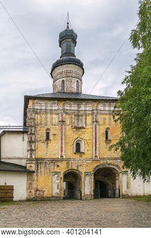 Holy Gate (1523) With The Church Of John Climacus In Kirillo-belozersky Monastery, Russia
