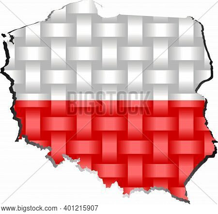 Poland Map - Illustration,  Three Dimensional Map Of Poland