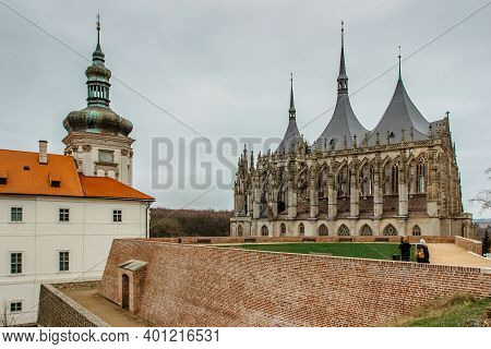 Saint Barbara Church, Czech Chram Sv. Barbory, In Kutna Hora, Czech Republic.famous Gothic Catholic