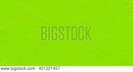 Bright Green Painted Pattern, Light Green Color Abstract Background. Smeared Oil Paint, Spring Color