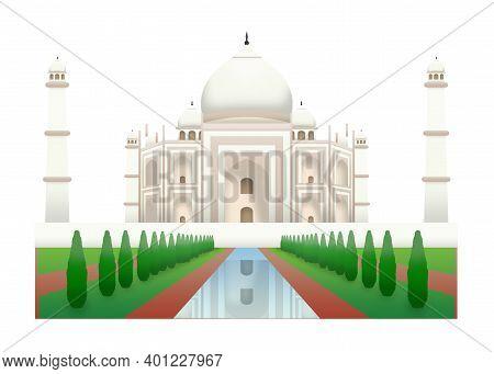 One Of Seven Wonders From Agra India, Taj Mahal