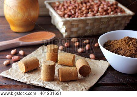 Peanut Candy (paçoca Or Pacoca) Traditional Brazilian Sweet Based On Peanuts, Manioc Flour And Sugar