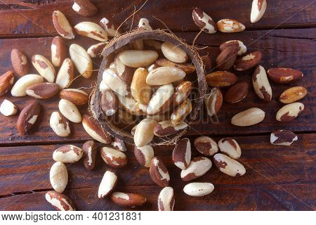 Chestnuts From Para Or Brazil Nuts, In Portuguese: Castanha-do-pará Or Castanha-do-brasil, In The Bo