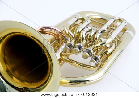 Tuba Euphonium Isolated On A White Background