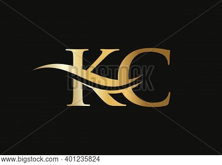 Kc Linked Logo For Business And Company Identity. Creative Letter Kc Logo Vector With Modern Trendy