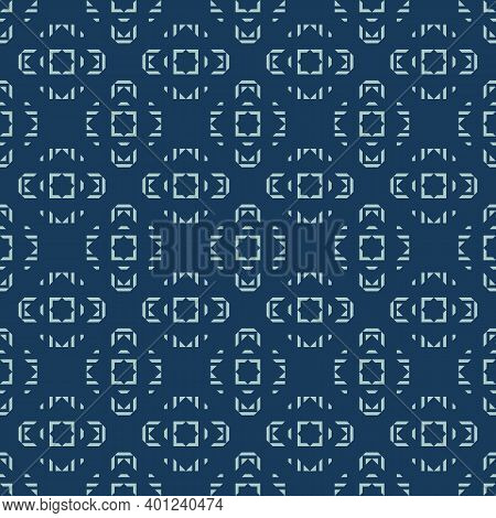 Vector Geometric Ornamental Seamless Pattern. Ethnic Tribal Ornament. Abstract Texture With Squares,