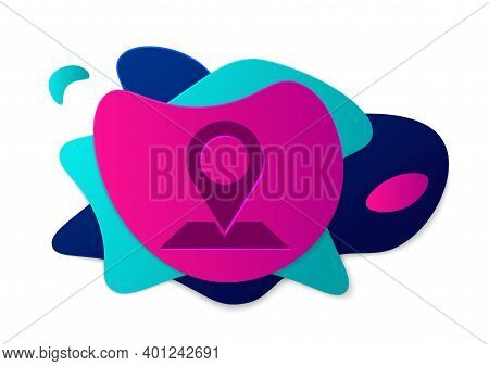 Color Map Pin Icon Isolated On White Background. Navigation, Pointer, Location, Map, Gps, Direction,