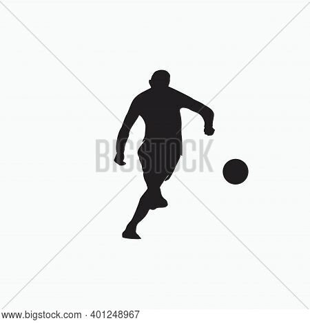 Shooting Style - Silhouette Illustration - Shot, Dribble, Celebration And Move In Soccer