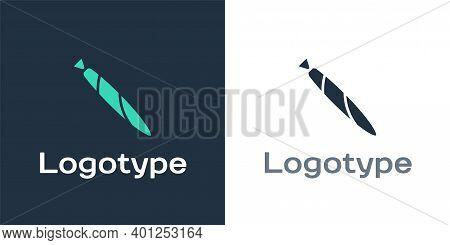 Logotype Marijuana Joint, Spliff Icon Isolated On White Background. Cigarette With Drug, Marijuana C