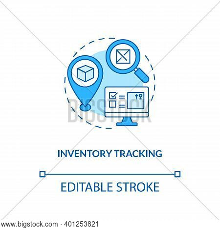 Inventory Tracking Concept Icon. Warehouse Management Components. Ensuring That Supply Is Available.