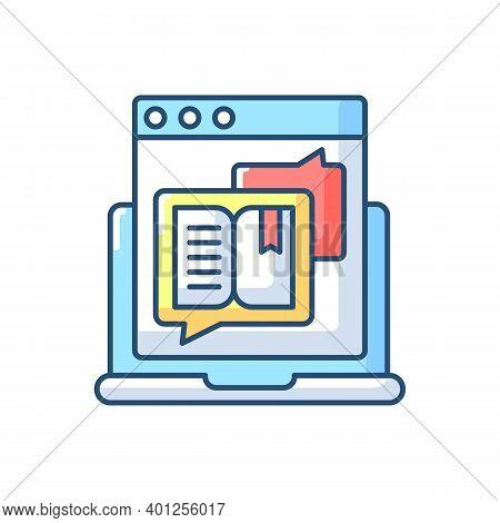 Storytelling Rgb Color Icon. Social Media Content. Online Visual Presentation. Internet Publication.