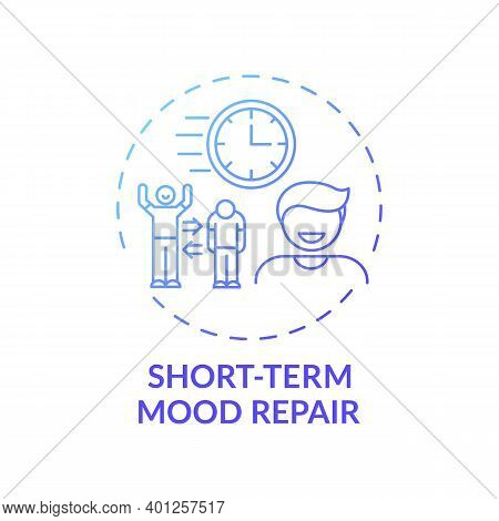 Short-term Mood Repair Concept Icon. Procrastination Reason Idea Thin Line Illustration. Enjoyable A