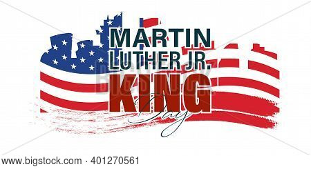 Vector Illustration Martin Luther King Day Greeting Card