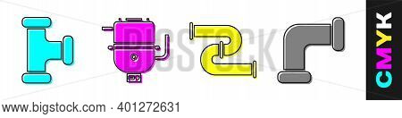 Set Industry Metallic Pipe, Electric Boiler For Heating Water, Industry Metallic Pipe And Industry M
