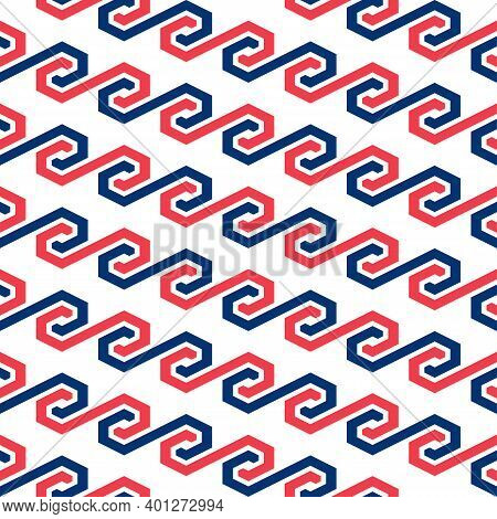 Trendy Seamless Abstract Geometric Vector Interlocking Pattern Design For Printing And Textile. Deco