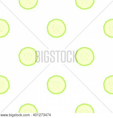 Illustration On Theme Of Bright Pattern Zucchini, Vegetable Squash For Seal. Vegetable Pattern Consi