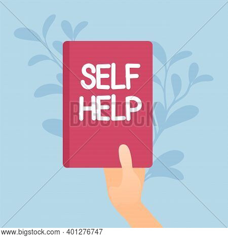 Self Help Book, Health And Psychological Problems Solving. Positive Thinking Practice, Stress Manage