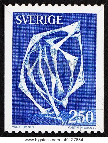 Postage Stamp Sweden 1978 Space Without Affiliation By Arne Jones