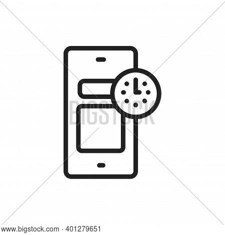 Widgets Line Black Icon. Smm Promotion. Outline Pictogram