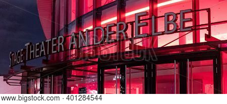 Stage Musical Theater In Hamburg - City Of Hamburg, Germany - December 25, 2020