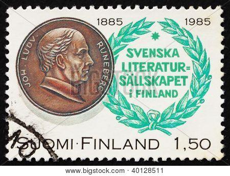 Postage Stamp Finland 1985 Johan Ludvig Runeberg, Poet