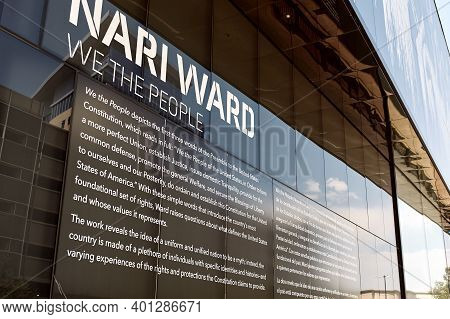 Denver, Colorado - August 4th, 2020:  Sign For Current Exhibition At The Museum Of Contemporary Art