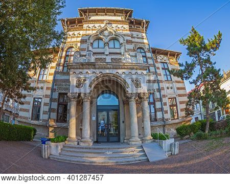 Constanta,romania-july 15, 2020:museum Of Folk Art That Includes All Genres Of Folk Art.the Building